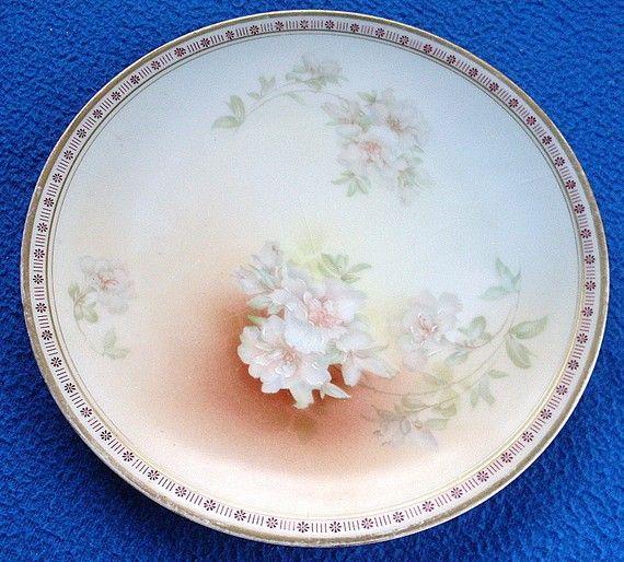 Vintage BAVARIA Porcelain Decorative Plate Flower Gold by ddb7, $12.00