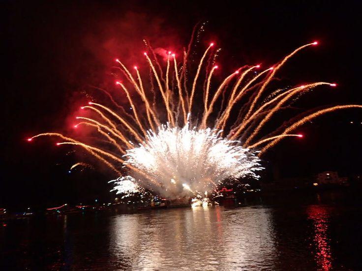 The Rhein in Flammen in St. Goar, Germany