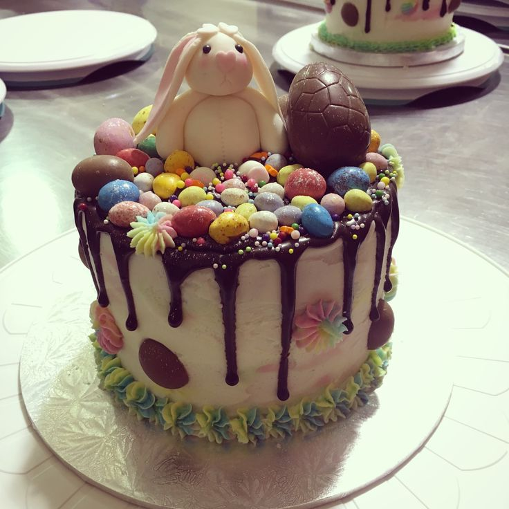 My Easter Drip Cake with gorgeous little Easter Bunny!!!! A very fun little project!!!