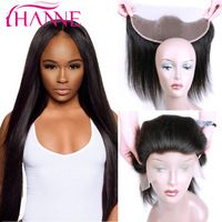 7A Malaysian Straight Hair Lace Frontal Closure Unprocessed Remy Malaysian Hair Full Lace Closure 13x4 Ear to Ear Top Frontal