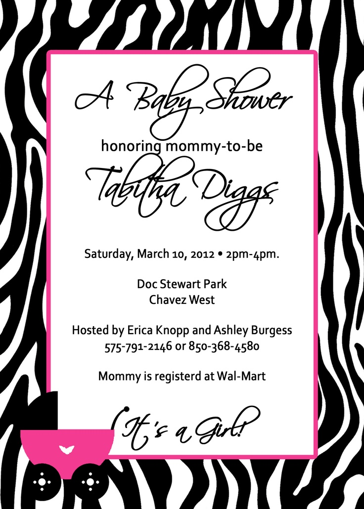 99 best Baby Shower Invitations images on Pinterest | Birthday ...