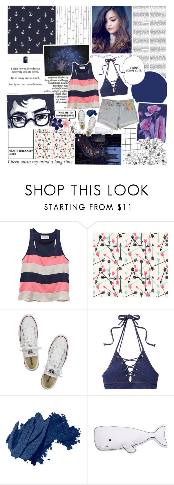 """""""just something i can turn to, somebody i can kiss ~"""" by wintervale ❤ liked on Polyvore featuring Tiffany & Co., Levi's, Pink Mint, Converse, Jonathan Simkhai, Bobbi Brown Cosmetics and Thro"""