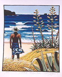 Silk Screen Art Prints beach | Tony Ogle Artist Screen Prints Surf and Beach Screen Prints