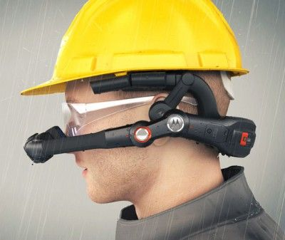 Designed by Rob Mansfield, Motorola HC1 headset machine offers a wearable workstation that permits you to get access to hands free portable registering.