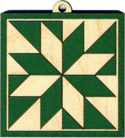 shooting star quilt block pattern | Green LeMoyne Star Quilt Block