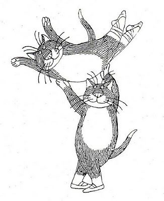 ballet cats by Edward Gorey