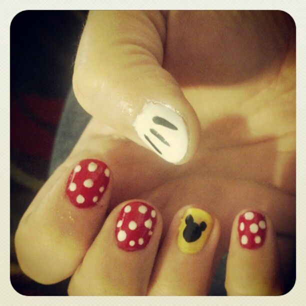 My DIY Disney nails from last trip