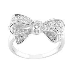 Bow ring!: Jewelry, Cubic Zirconia, Bows, Bow Rings, Accessories, Cz Bow