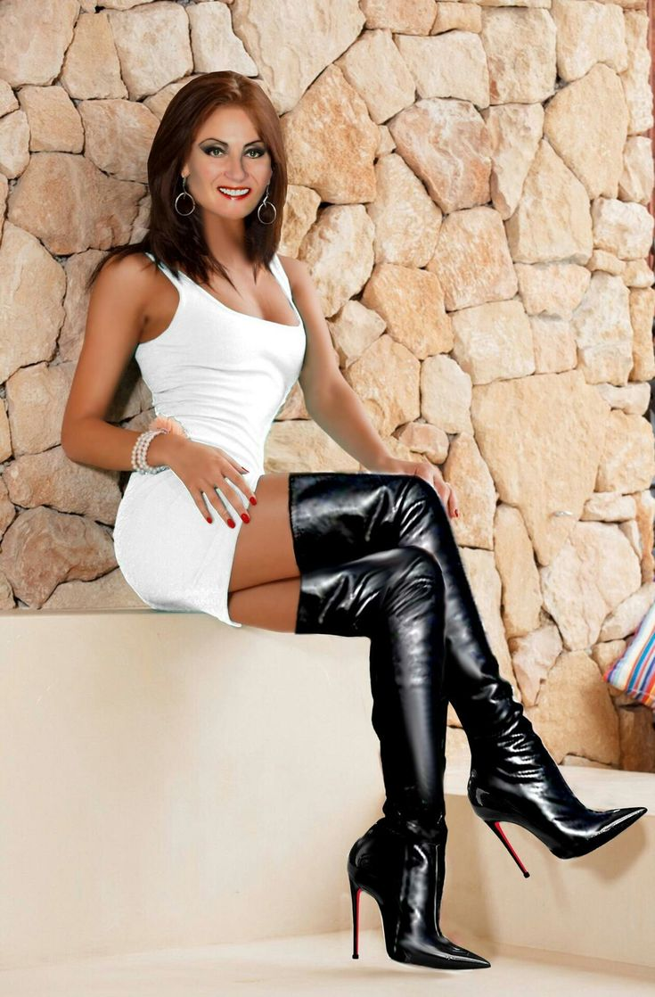 Naughty Milf  Sexy Skirts  Dresses In 2019  Sexy Boots -3064