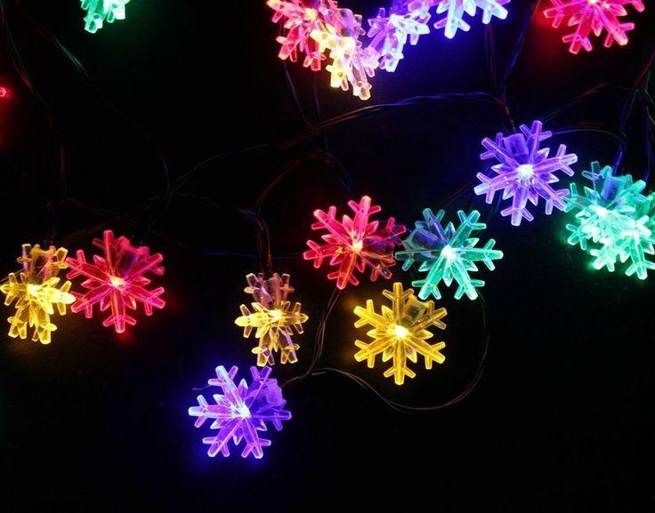 Inngree Snowflake Solar String Light 20 Ft 30 Led Waterproof Solar Power String #Inngree #Multipurpose