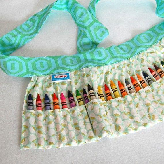 adorable crayon apron