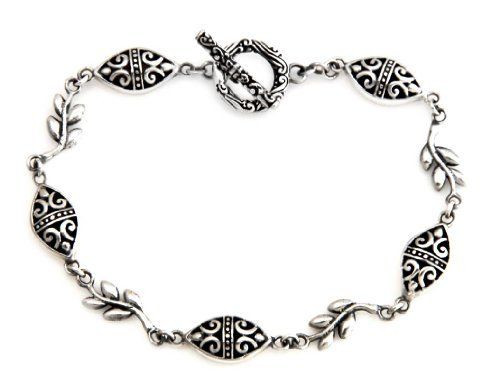 Sterling silver link bracelet, 'Denpasar Paradise' NOVICA. $62.95. A fair trade product. Handmade by Ngurah Gede.. Normally ships directly from Bali & Java within 10 days.