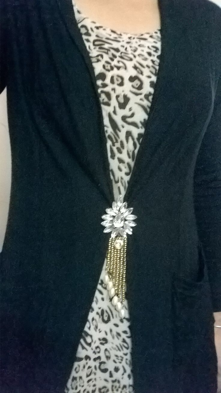 Brooch On Shrug will make your shrug more stylish and elegant - Khushi Elegant Jewels