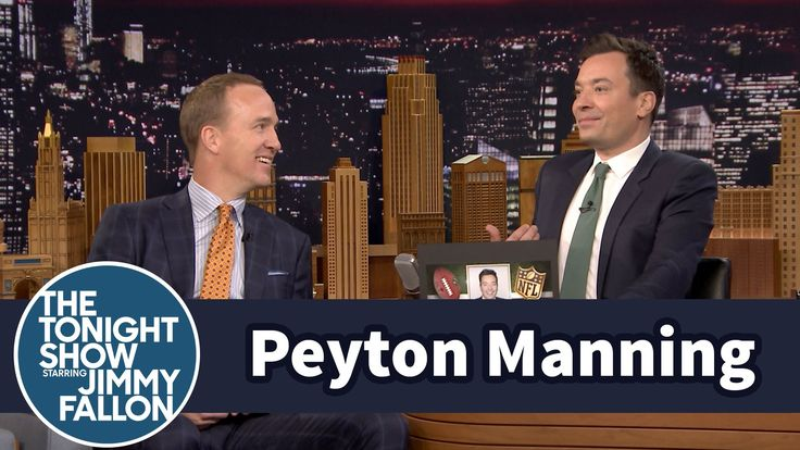Peyton Manning Gives NFL Superlatives to Jimmy Fallon