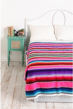 Reminds me of the mexican blankets we bought in TJ when I was a kid. Oh how styles come back.