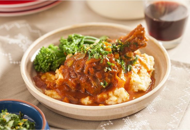 All the flavours of osso bucco but we've made it with lamb shanks instead
