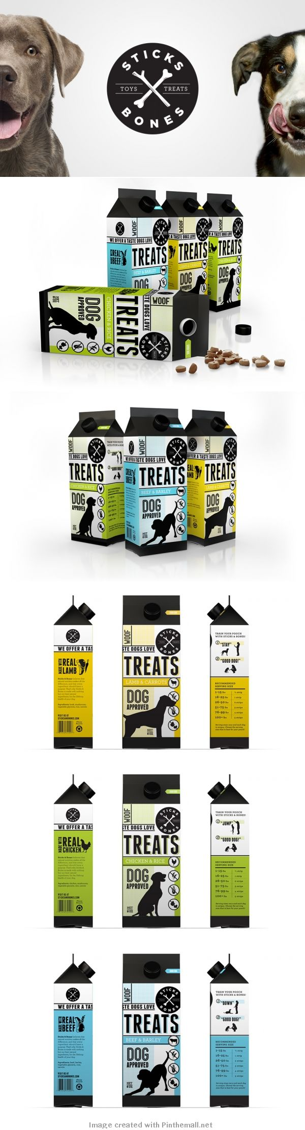 Sticks and Bones. Ha, ha pet packaging PD