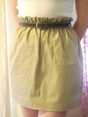 Create / Enjoy: The Super Easy Paper Bag Waist Skirt Tutorial