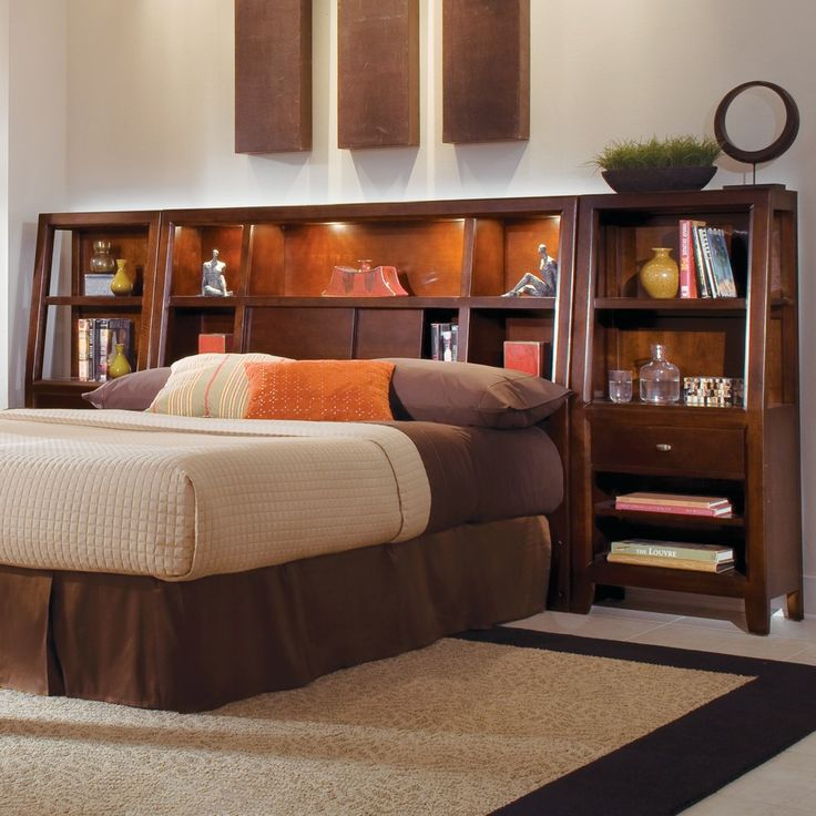 American Drew Tribecca Bookcase Headboard By Humble Abode Storage Beds Pinterest Bookcase