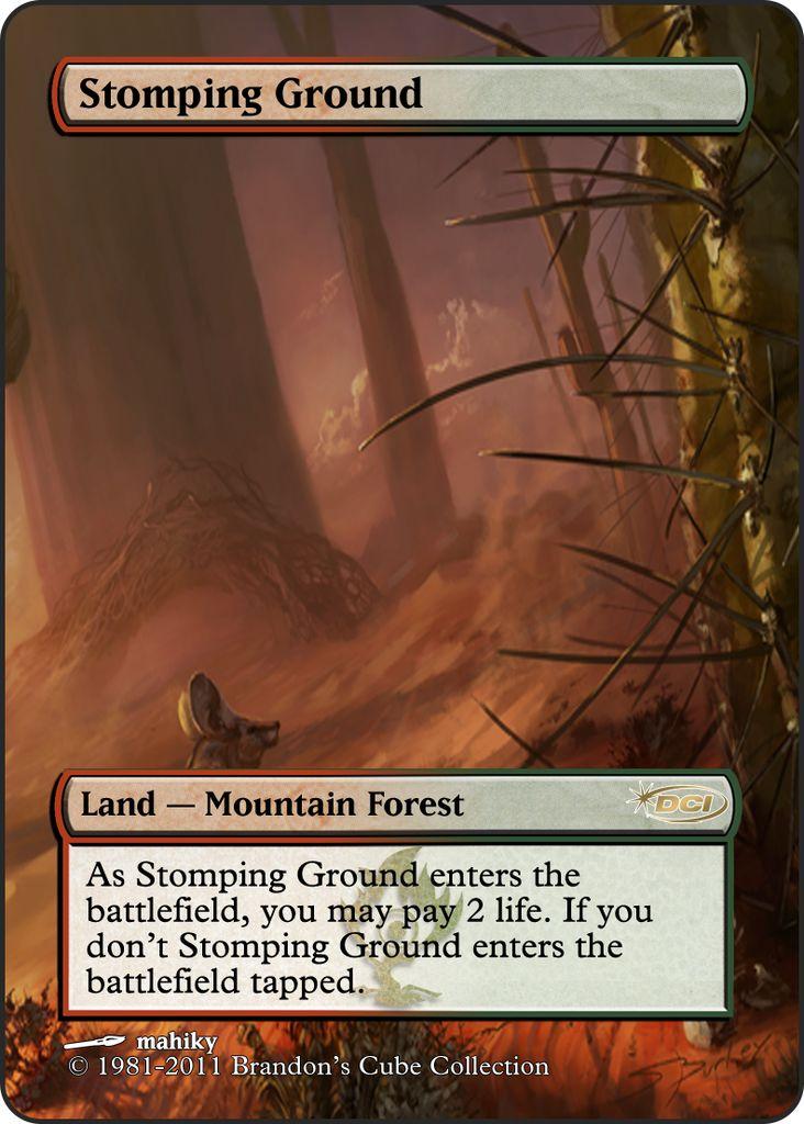 Magic The Gathering Stomping Ground Proxy