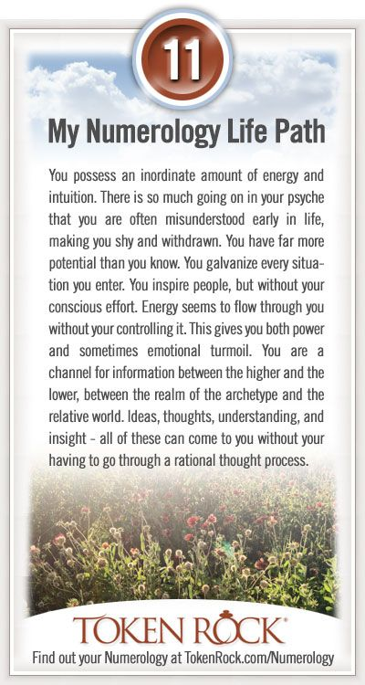 My #Numerology Life Path #11...interesting   :)