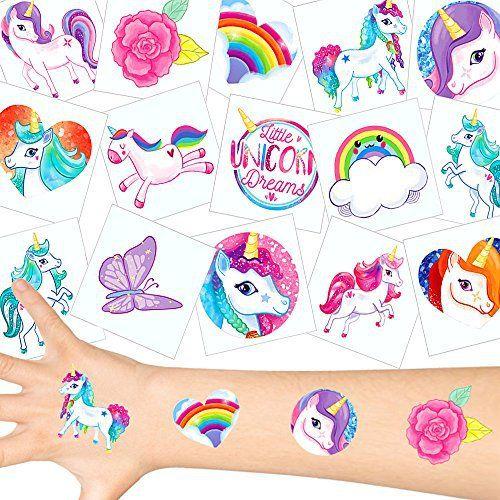 German Trendseller® – 72 x tatouages temporaires de licornes┃tatouages ephémères┃l'anniversaire d'enfant┃petit cadeau┃ motifs avec…