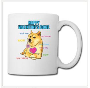 Coffee Ceramic Mug Doge Valentines Day, design from PlanetHupo, printed both sides. $23.90 #internet #meme #happyvalentine #valentinesday #doge #cute #dog