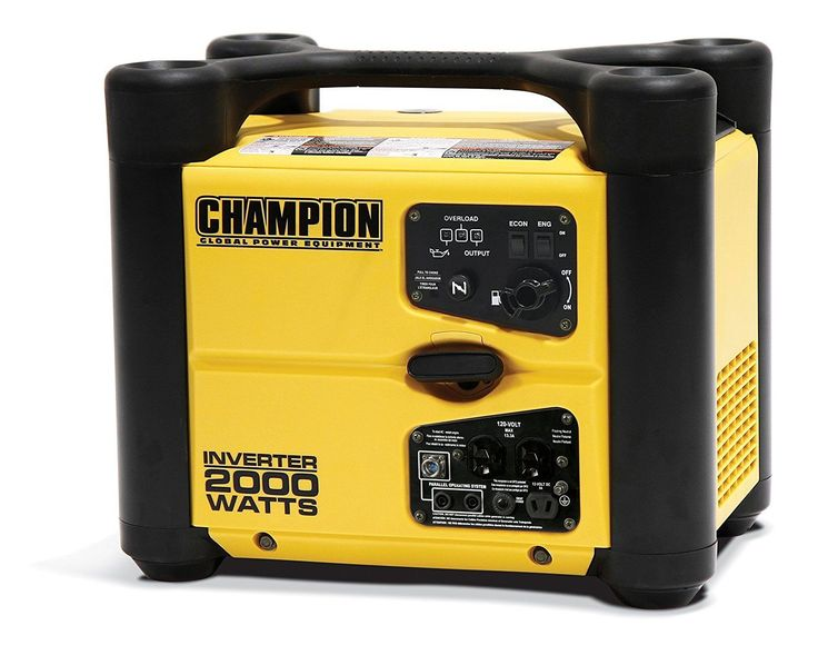 Portable Generator Gas Generators Small Champion Exhaust Power Stackable Mini