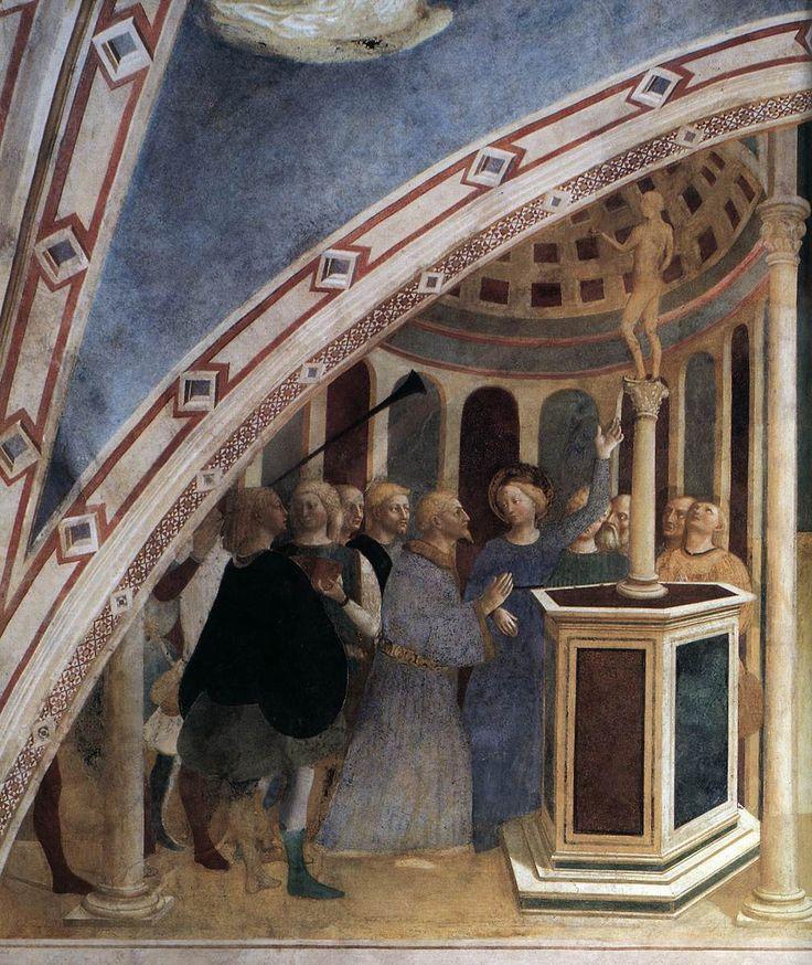 MASOLINO da Panicale St Catherine Refusing to Worship Idols 1425-31 Fresco Castiglione Chapel, San Clemente, Rome