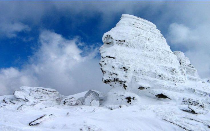 The Sphinx of Bucegi, in the Carpathian Mountains, Romania