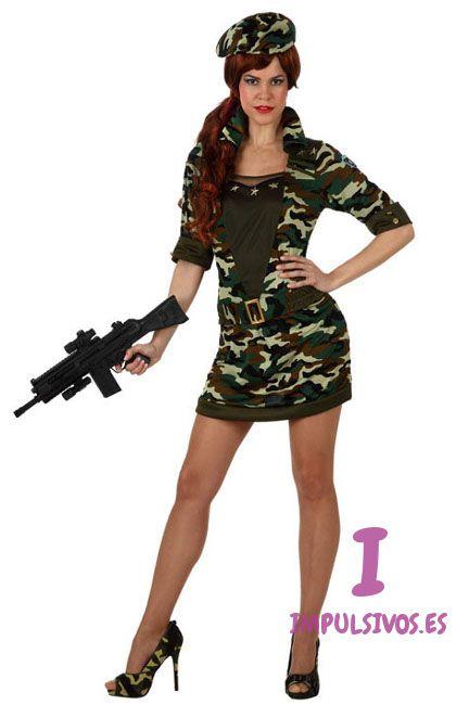 Compra tu disfraz de militar para mujer por 22,75 €