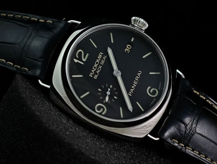 Panerai PAM 388 Radiomir BlackSeal Automatic 'O'  Ref. No. PAM 388 Movement Automatic Case Diameter 45 mm Glass Sapphire Glass Bracelet Material Crocodile skin Functions Date, Display Back, Small Seconds     Serial 'O' Condition: 95%  (Fullset box manual paper)   WE ARE BASED AT JAKARTA - INDONESIA please contact us for any inquiry : whatsapp : +6285723925777 blackberry pin : 2bf5e6b9 #panerai #pam388 #titanium #indoristi #bruristi #officinepanerai #paneristi #paneraicentral #singapo