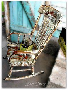 Gorgeous  Rocking Chair Redo~!