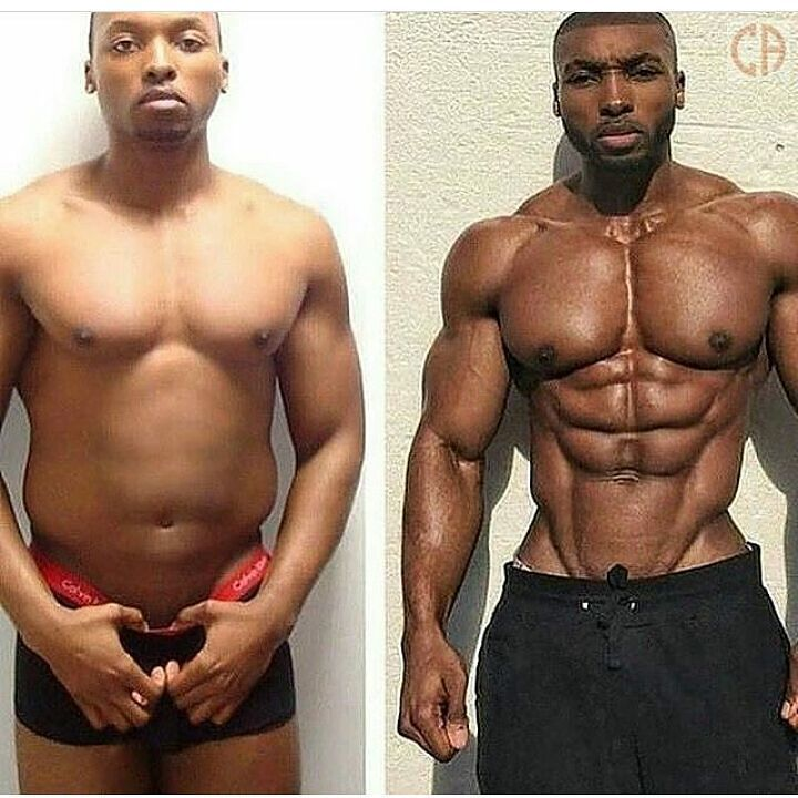 """AMAZING transformation by @obi_vincent  But remember this wasn't some """"90 day transformation"""" - this is a solid 8 YEARS of hard work and dedication!!!! Check out his YouTube channel where his vlog goes into a little more detail about how he transformed his body - """"My Transformation Story""""  youtube: obivincent"""