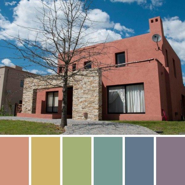 Las 25 mejores ideas sobre colores de pintura exterior en for Colores para exteriores de casa