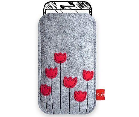 Handytasche Tulpenstrauß rot kuhrinna