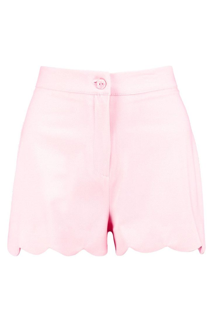 Bella Scalloped Hem High Waisted Shorts