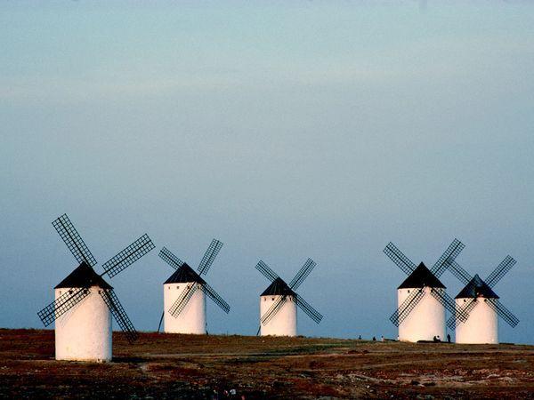Energía eolica, en Castilla La Mancha hace tiempo que la usamos...