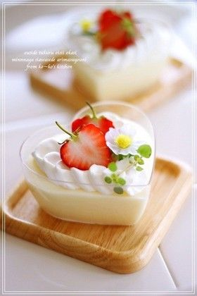 White chocolate mousse From Japanese website ~ www.cookpad.com