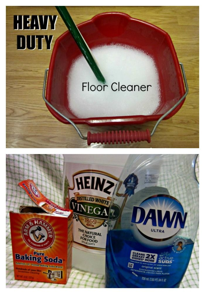 Strip the gunk off your tile floors and leave them smelling clean and fresh with the heavy duty cleaner! (Pinned 218,000 times)