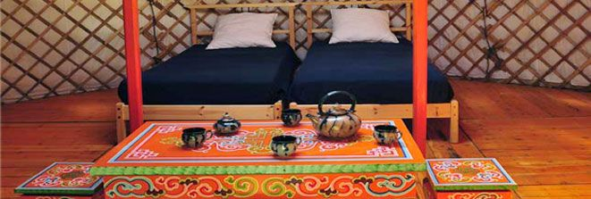 Image result for mongolian yurt beds