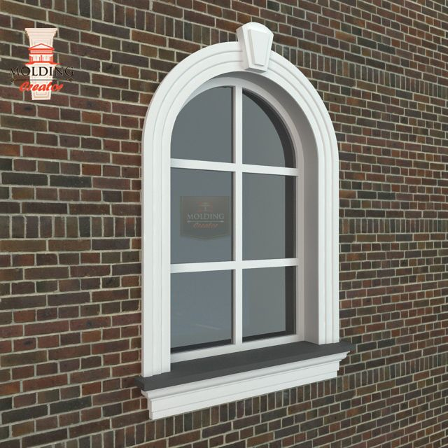 Arched profiles – outdoor molding  Just specify dimensions of the arch, how broad and high it should be (measured in the center) as well as give the slat model and the product will be ready according to your order. If you need round profiles – we are just for you. We produce, for example, round windows or lamp covers.  http://www.moldingcreator.com