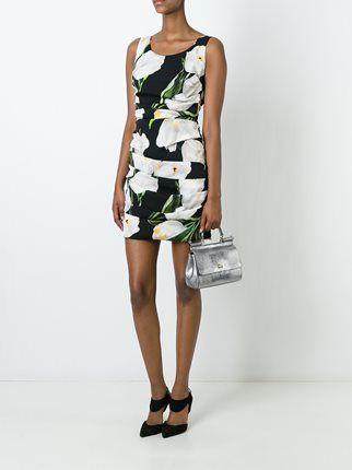 Dolce & Gabbana платье с принтом тюльпанов