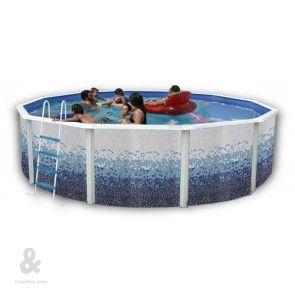61 best piscinas montables de acero images on pinterest for Funda piscina redonda