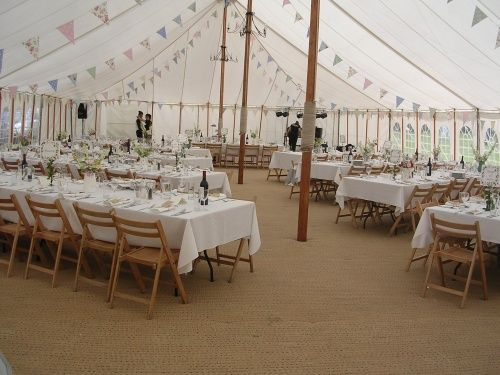 County Marquees - traditional style, rustic banquet style seating (Tom's preference)