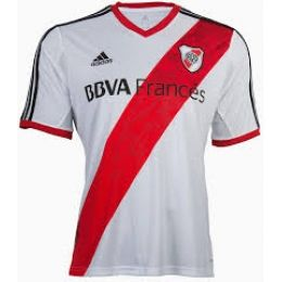 13-14 River Plate Home White Jersey Shirt