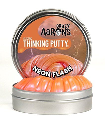 Crazy Aaron's Neon Flash Two-Inch Thinking Putty - Known for its bright red-orange hue, neon is actually a colorless noble gas. It needs a flash of inspiration (in the form of electricity) to get it glowing. Spark some great ideas with Neon Flash Thinking Putty. Exceptionally bright and inspiring, it's sure to help you keep an open mind.