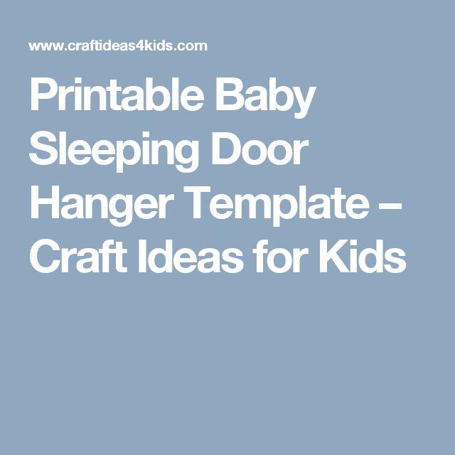 Printable Baby Sleeping Door Hanger Template – Craft Ideas for Kids