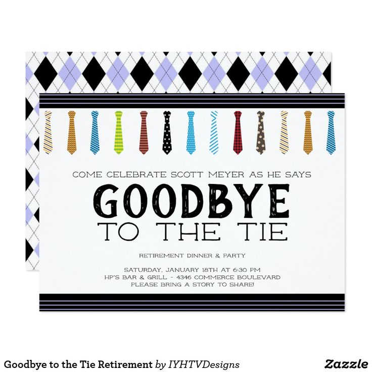 Goodbye to the Tie Retirement Card