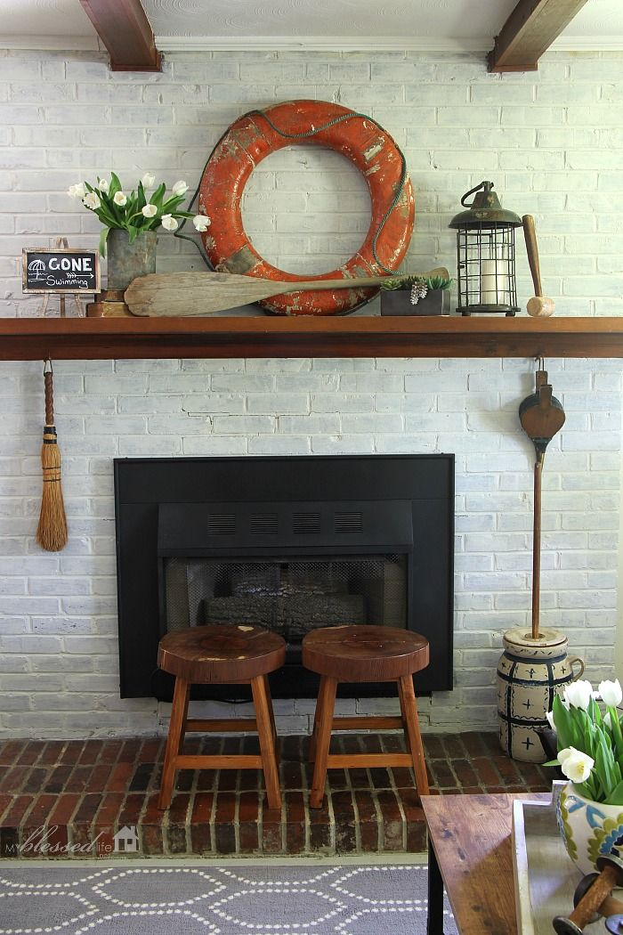 best 25 summer mantel ideas on pinterest summer mantle decor fireplace decor summer and. Black Bedroom Furniture Sets. Home Design Ideas